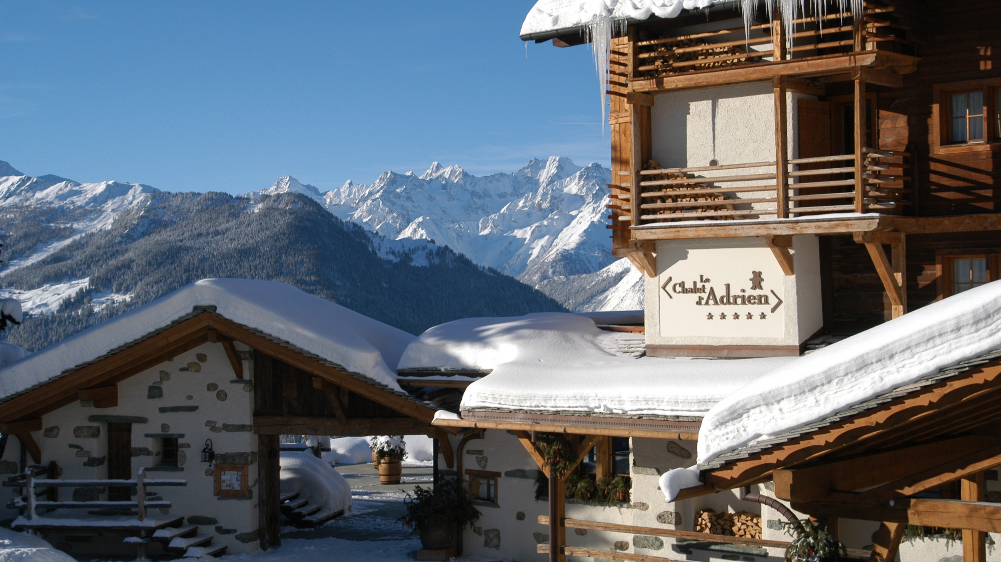 The Chalet d'Adrien in Winter
